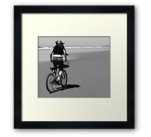 Bicycle on the Beach Framed Print