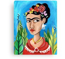 Frida's Blues Canvas Print