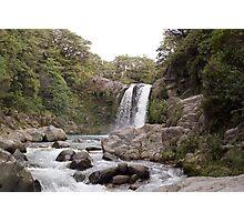 Tawhai falls Photographic Print