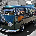 Green Volkswagen Kombi Van by Ferenghi