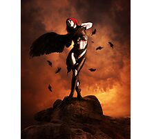 Black wing unfurled Photographic Print