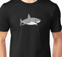 Grey shark in black Unisex T-Shirt