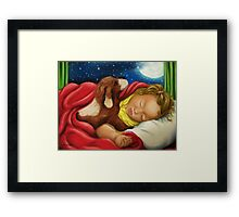 Waiting and Watching on Christmas Eve Framed Print