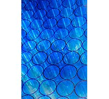 Blue glass lighting Photographic Print