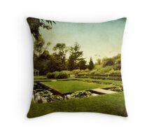 Lily Pond Garden Throw Pillow