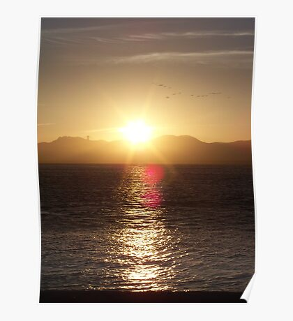 Sunset in San Francisco Poster