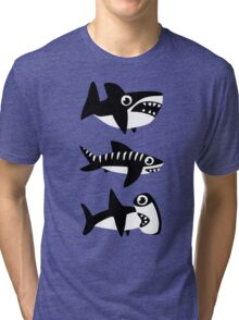 Dumb Sharks Tri-blend T-Shirt