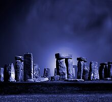 Stonehenge at Night by John Wallace