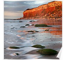 Hunstanton cliffs at Sunset, Norfolk Poster