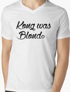 Kong was Blond Mens V-Neck T-Shirt