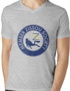 Member Zissou Society (detailed) Mens V-Neck T-Shirt