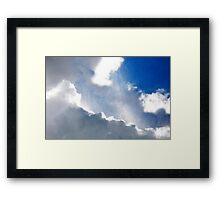 Sky and it's rays Framed Print