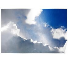 Sky and it's rays Poster