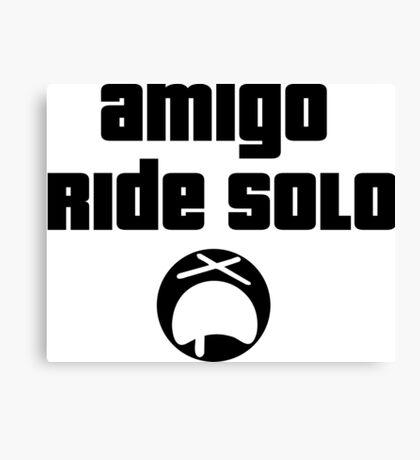 Amigo Ride Solo Canvas Print