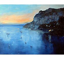 Evening moorings Photographic Print