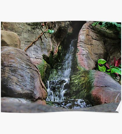 Indoor Manmade Waterfall Poster