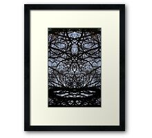 Abstract tree branches pattern Framed Print