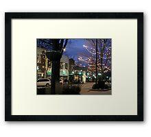Greenville on Main Framed Print
