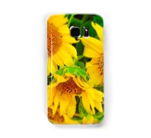 Sunflowers in Vase, Farmers Market, Kansas City Samsung Galaxy Case/Skin