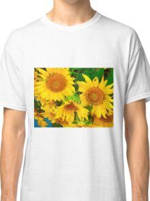 Sunflowers in Vase, Farmers Market, Kansas City Classic T-Shirt