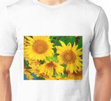 Sunflowers in Vase, Farmers Market, Kansas City Unisex T-Shirt