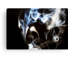 Abstract smoke pattern on black background Canvas Print
