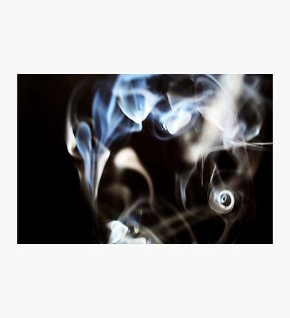 Abstract smoke pattern on black background Photographic Print