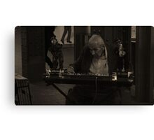 Old Man Entertaining V2 Canvas Print