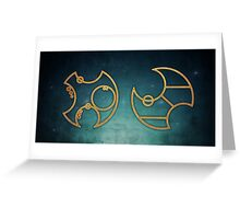 Doctor Who in Circular Gallifreyan Greeting Card