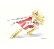 She-Ra watercolor Art Print