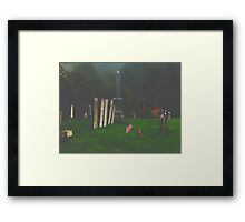 Misty Morning Rememberance Framed Print