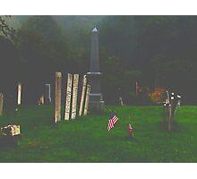 Misty Morning Rememberance Photographic Print