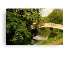 Strolling Over the Bridge  Canvas Print