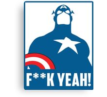 Captain America - F**k Yeah! Canvas Print
