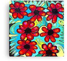 Black Tipped Petals Canvas Print