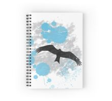 Bird In The Rain Spiral Notebook