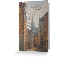 Place In Old City Greeting Card