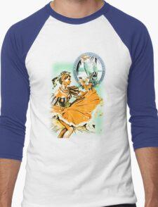 caribbean dancer Men's Baseball ¾ T-Shirt