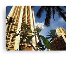 Waikiki Skyline... hotels Canvas Print