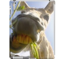 Funny Donkey head smiling iPad Case/Skin