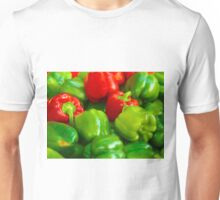Green and Red Bell Peppers Tilt Shift Unisex T-Shirt