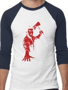 Ash / Axe Men's Baseball ¾ T-Shirt
