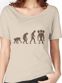 evolution - Three headed Monkey Women's Relaxed Fit T-Shirt