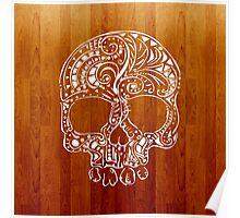 Skull Wood Poster