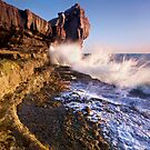 Holy water! - Pulpit Rock - Portland. Dorset by outwest photography.co.uk