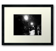 the rainy night Framed Print