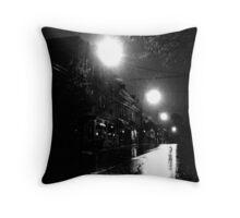 the rainy night Throw Pillow