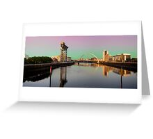 Glasgow clyde panorama Greeting Card