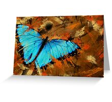 Abstract With Wings Greeting Card