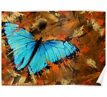 Abstract With Wings Poster